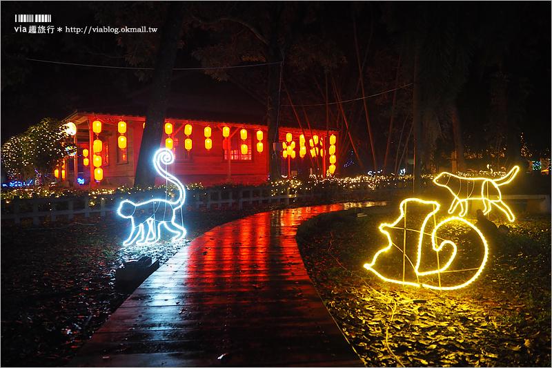 【南投燈會】2018南投燈會第二燈區:埔里燈會~夢幻森林花燈+水上花燈區賞遊趣!