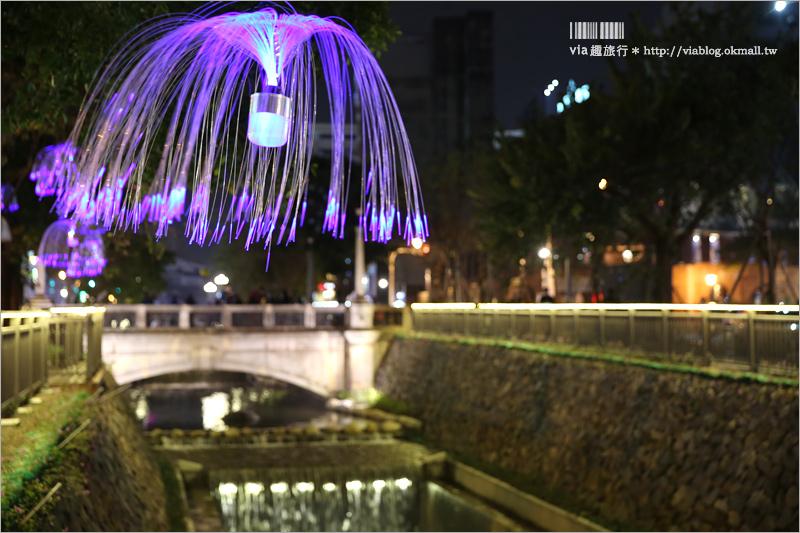 【台中綠川】綠川水岸新登場~夢幻的水岸步道散策趣!古橋搭配水母燈、蒲公英燈、紫藤花~浪漫十足!