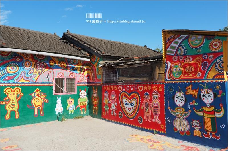 【台中景點】彩虹眷村~再訪經典台中必遊景點彩繪村!怎樣拍都好好看的彩色國度!