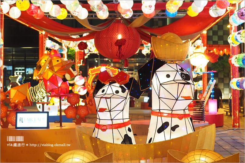 【台南燈會】新光三越彩燈節/小西門前狗年燈會‧四色柴犬好萌~還有彩繪燈籠好好拍!