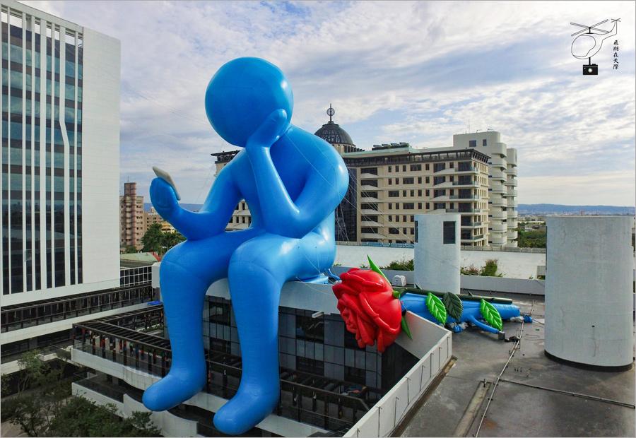 【台中藍色巨人】台中軟體園區~DALI ART藝術廣場-藍色巨人玫瑰花現身台中啦