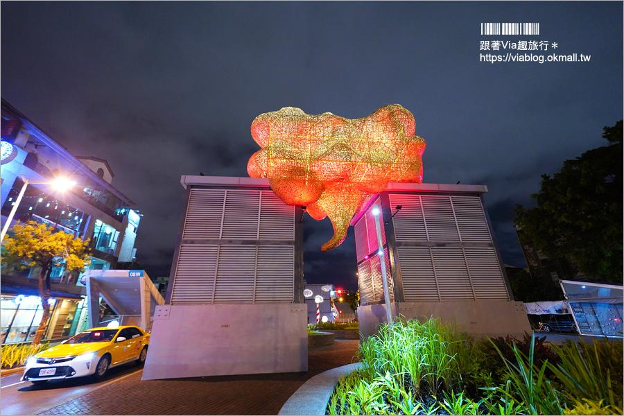 台南景點》海安路「街道美術館」~新亮點!變身大型戶外藝術館,夜裡發光更夢幻!