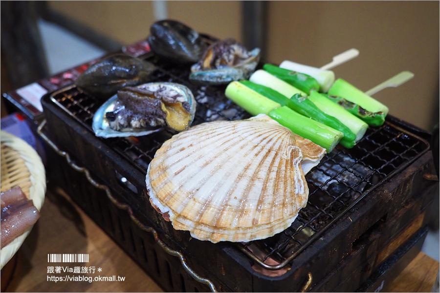 【大阪餐廳】心齋橋美食~磯丸水產居酒屋‧海鮮套餐喔依系!新鮮生猛的鮑魚、扇貝好好吃!
