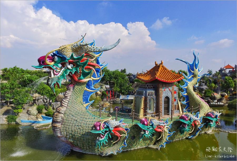 【雲林景點推薦】馬鳴山鎮安宮五年千歲公園~免費參觀!全台最狂寺廟主題公園~九龍船、摩天大橋無敵壯觀!