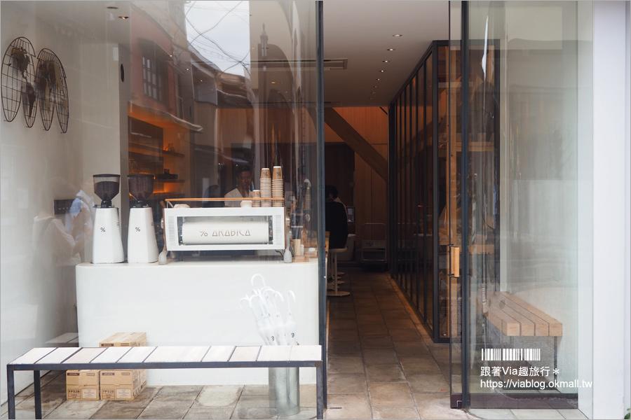 【京都咖啡館】京都東山區%ARABICA咖啡‧八坂道上的亮點!總是人潮滿滿的IG人氣咖啡館