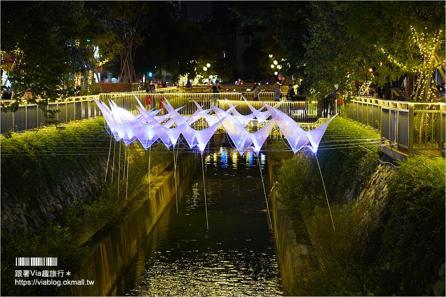 綠川水岸》台中綠川又有新亮點夜間璀璨登場!點亮.綠柳川創意藝術光景展~
