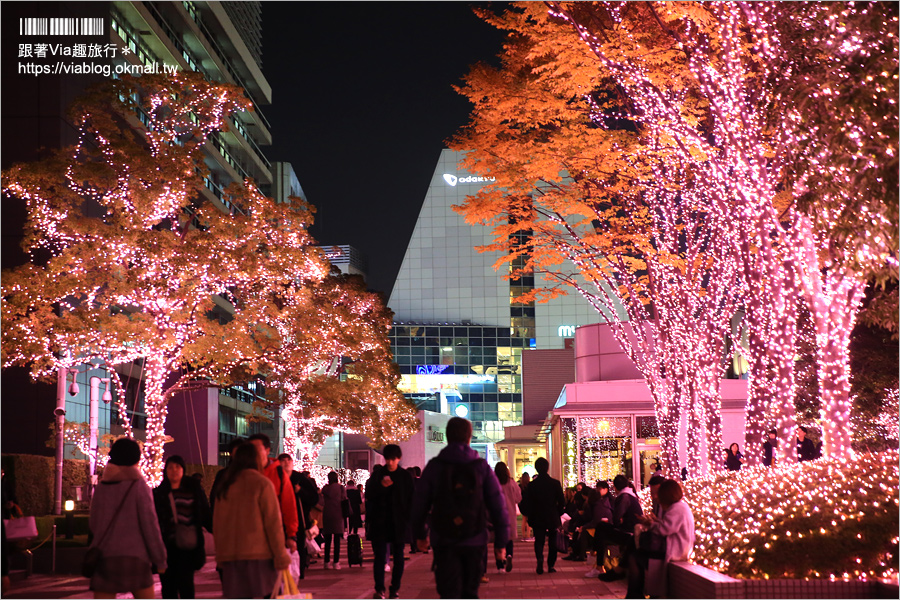 【東京點燈】新宿燈節《新宿空中遊城燈彩》~粉紅世界!唯一「櫻花粉」的浪漫點燈展!