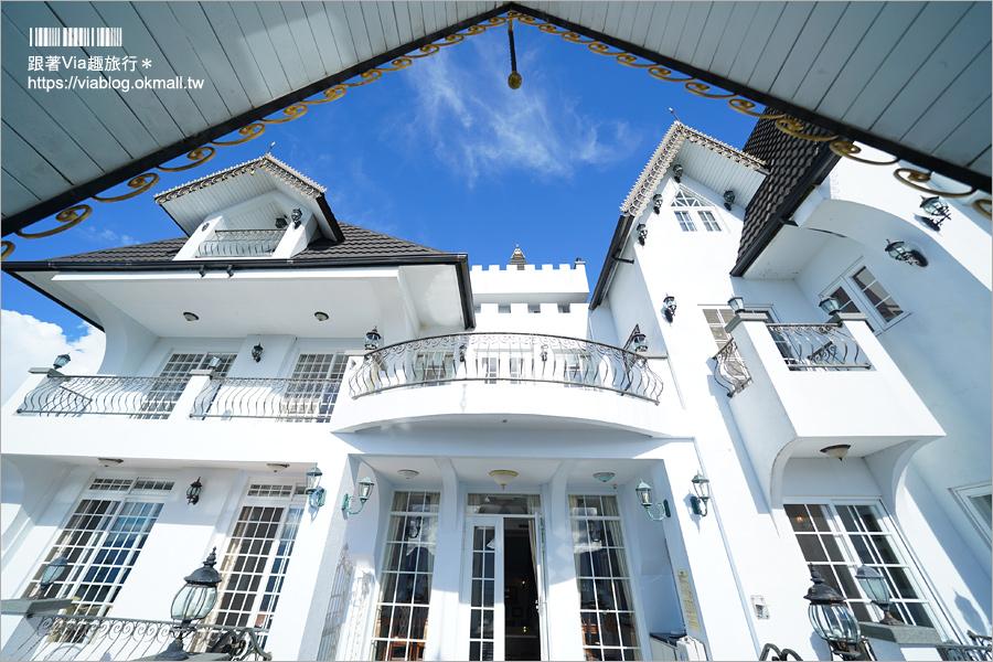 【清境民宿】清境藝家原‧鷹堡~最夯的IG打卡點!歐洲貴族風的白色城堡,日夜美景都好拍!