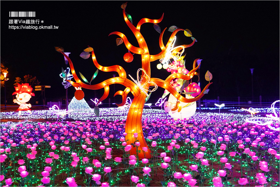 【南投燈會2019】南投豬年燈會主燈區~百隻可愛小豬歡慶豐年+夜光七彩花園迎新春!