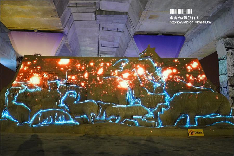 【2019南投沙雕】東西方神話沙城真實呈現~期間限定的夜間光雕秀別錯過!