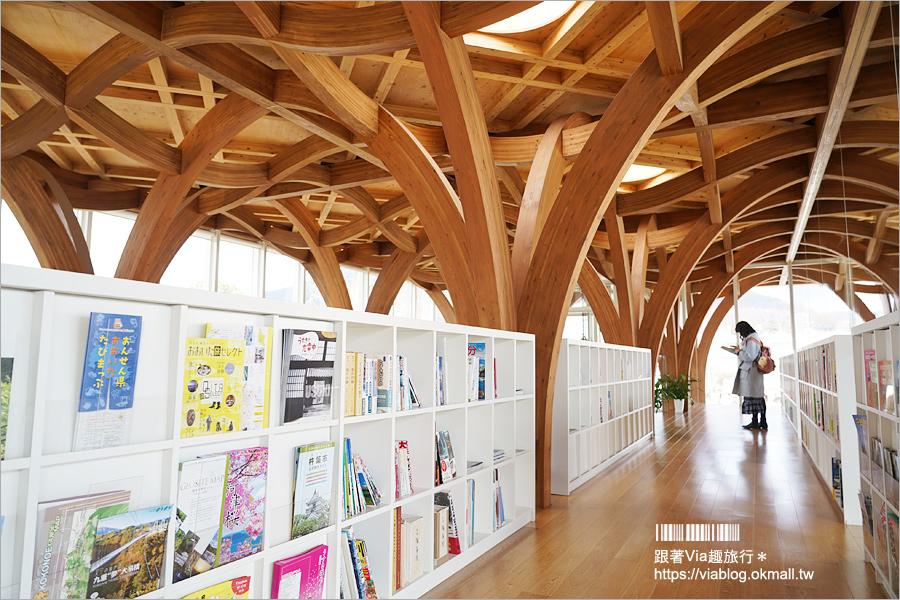 【由布院景點】由布院旅遊資訊中心~2018新落成的夢幻新地標!坂茂建築大師打造出城市木造森林美景!