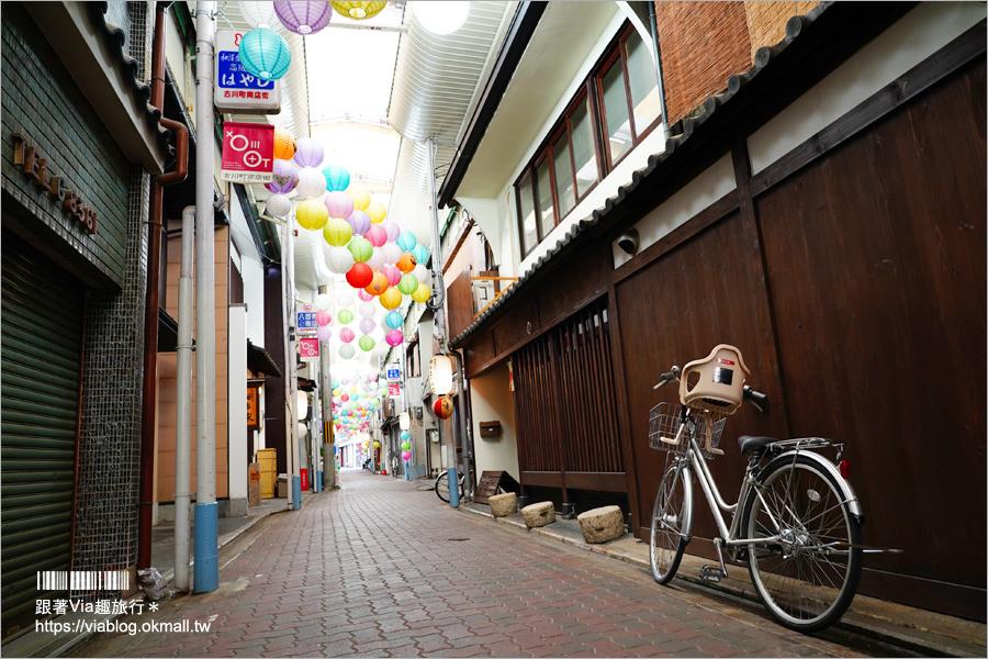 【京都打卡景點】古川町商店街~七彩燈籠好繽紛~彩色糖果風的古樸風商店街打卡去!