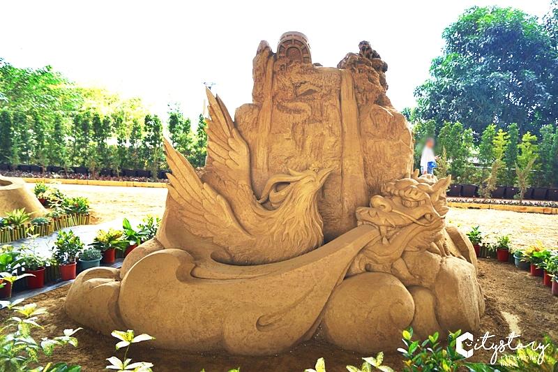 【南投沙雕】2018南投國際沙雕藝術園區~南投黃金河沙喜迎旺旺年!