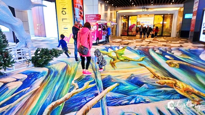 【CITYLINK南港恐龍展】南港車站商場-DINO LINK 恐龍玩樂地(展覽已結束)-巨無霸三角龍及恐龍雕塑模型超酷炫!