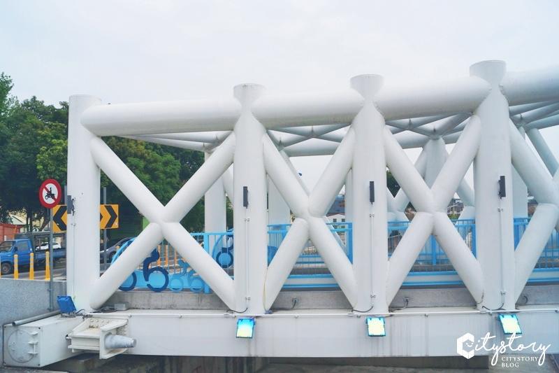 【台中北屯景點】海天橋~台中IG打卡熱點,藍白自行車景觀橋怎麼拍都好看