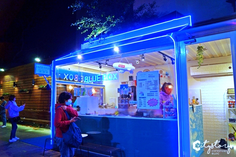 【台中一中街】藍箱處 Blue Box – 創意甜點-秘密花園找獨角獸冰淇淋