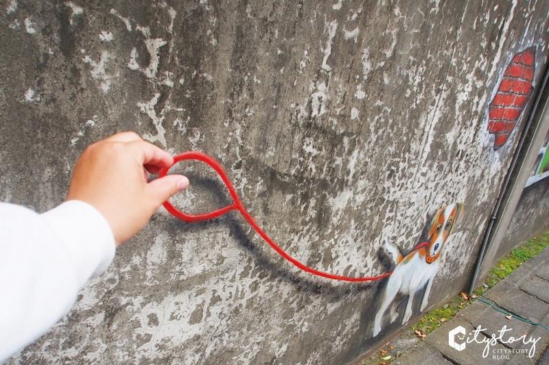 【台中潭子國小彩繪牆】時光記趣彩繪牆~潭子國小後方童趣復古彩繪牆